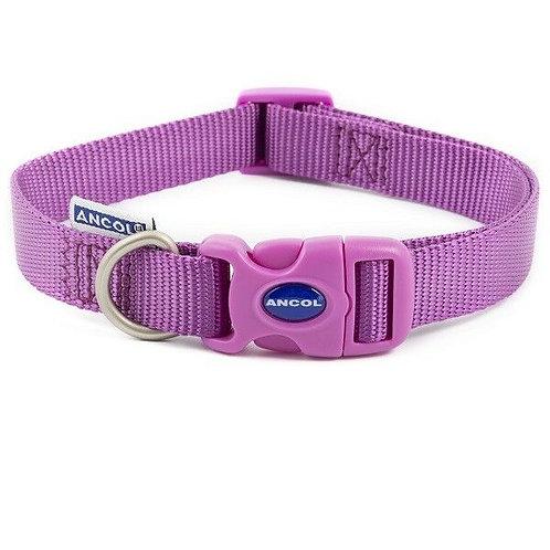 Ancol Nylon Adjustable Collar Purple