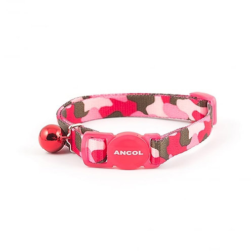 Ancol Cat Collar Camouflage Pink