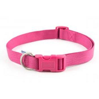 Ancol Nylon Adjustable Collar Raspberry