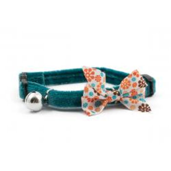Ancol Cat Collar Vintage Teal Bow