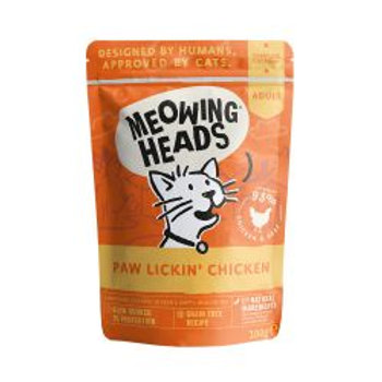 Meowing Heads Paw Lickin' Chicken Pouch
