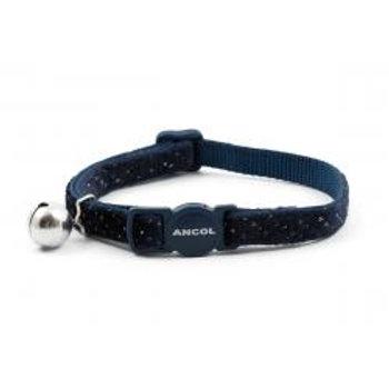Ancol Cat Collar Velvet Navy Sparkle