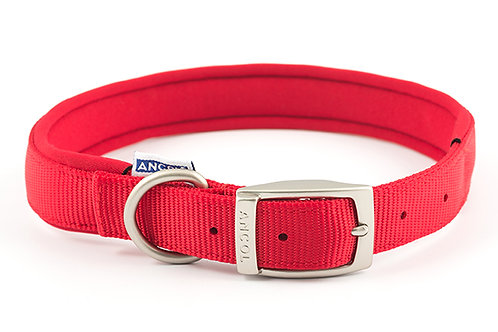 Ancol Padded Nylon Collar Red