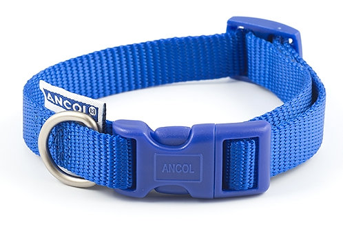 Ancol Nylon Adjustable Collar Blue
