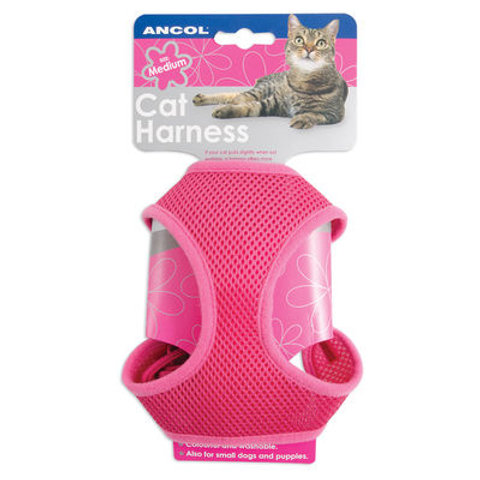 Ancol Cat Soft Harness & Lead Pink