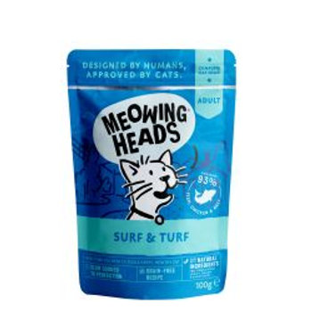 Meowing Heads Supurr Surf & Turf Pouch