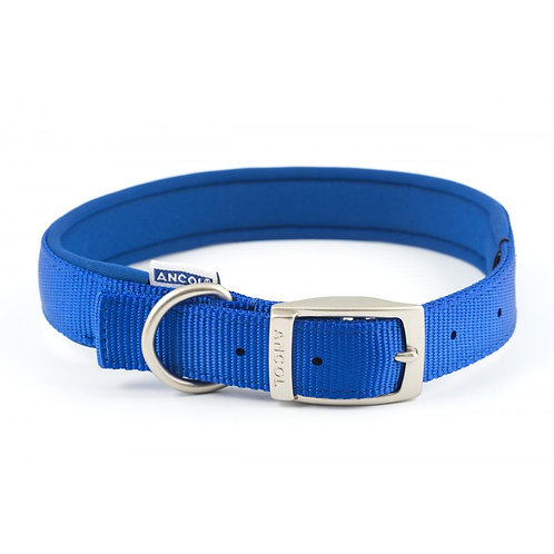 Ancol Padded Nylon Collar Blue