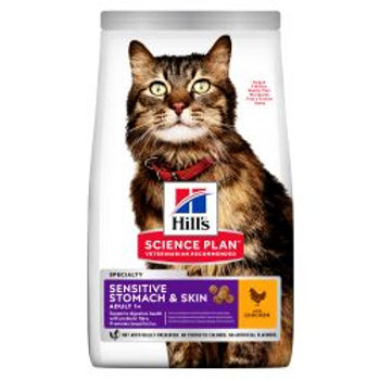 Hill's Science Plan Adult Sensitive Stomach & Skin Dry Cat Food Chicken Flavour