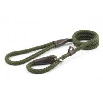 Ancol Nylon Slip Lead Green