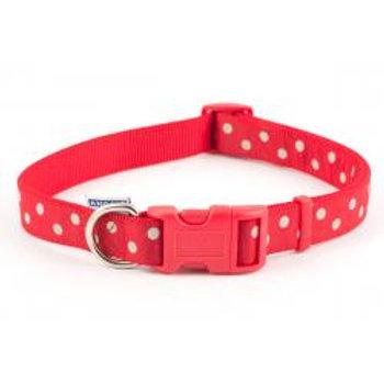 Ancol Vintage Polka Dot Collar Red