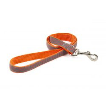 Ancol Lead Reflective Bone Orange