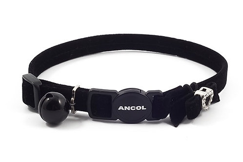 Ancol Velvet Heart Cat Collar Black