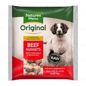Natures Menu Original Beef Nuggets with vegetables & brown rice