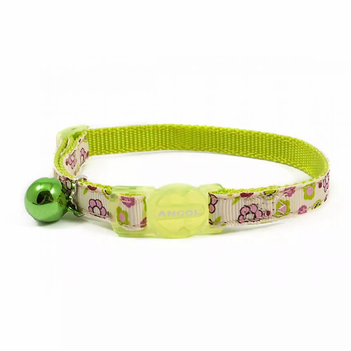 Ancol Cat Collar Lime Flower