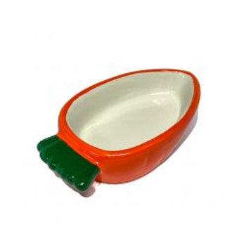 Happy Pet Carrot Shaped Bowl