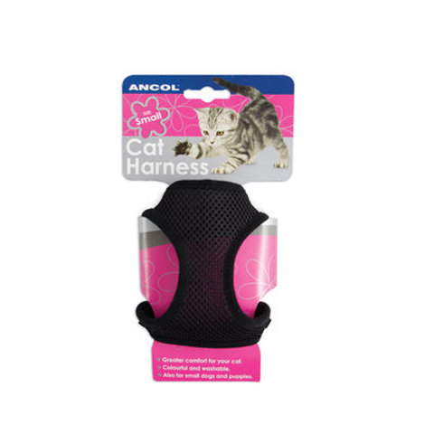 Ancol Cat Soft Harness & Lead Black