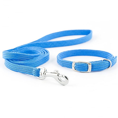 Ancol Puppy Softweave Collar and Lead Set Blue