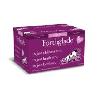 Forthglade Just 90% Multicase Grain Free 12 Pack (4xChicken, 4xLamb, 4xBeef)
