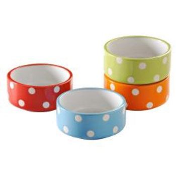 Mason Cash Assorted Polka Dot Small Animal Bowls