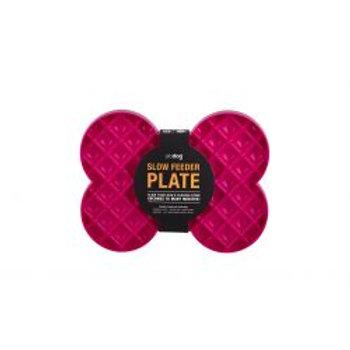 Slo Dog Feeder Plate Pink