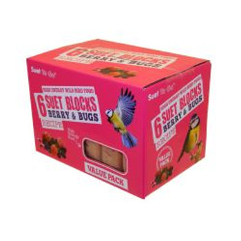 Suet To Go Berry & Bugs Blocks Value 6 Pack