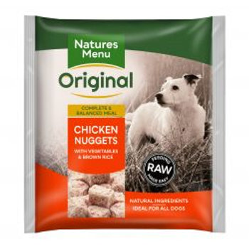Natures Menu Original Chicken Nuggets with Vegetables & Brown Rice