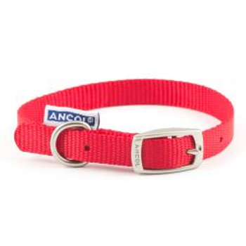 Ancol Nylon Dog Collar Red