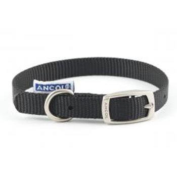 Ancol Nylon Dog Collar Black