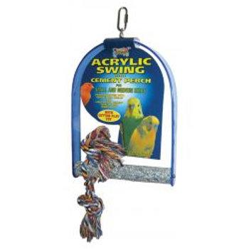 Lazy Bones Acrylic Swing Perch