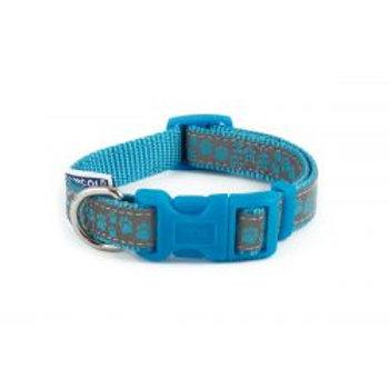 Ancol Collar Reflective Paw Blue