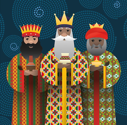 Christmas Card – 3 Black Kings