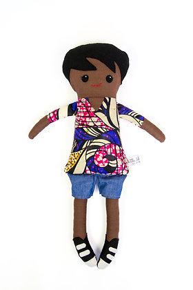 LBA Rag Doll - Black Boy (African Print)