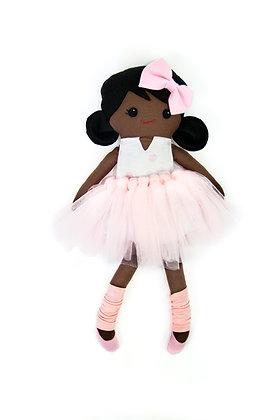 LBA Rag Doll - Black Girl (Ballerina)