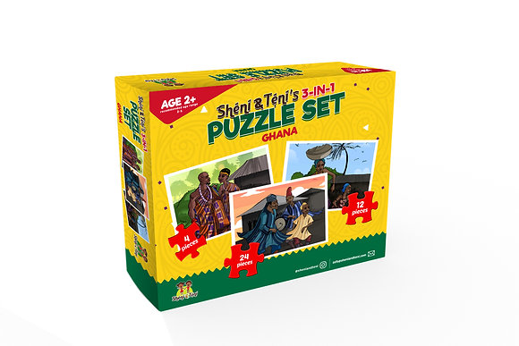 Sheni Teni Culture Puzzle - Ghana (3in1)
