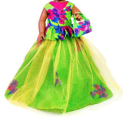 Sibahle Clothing - Nobhule gown + blouse (green)