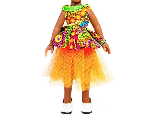 Sibahle Clothing - Bontle skirt + blouse (orange)