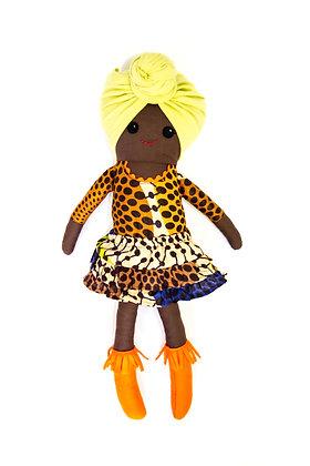 LBA Rag Doll - Black Girl (Headscarf)