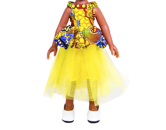 Sibahle Clothing - Bontle skirt + blouse (yellow)