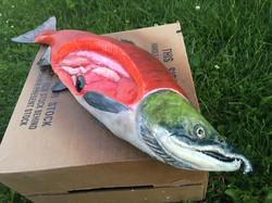 Guest Touchable Salmon Sculpt