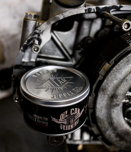 Oil Can Grease Tins - Classic Cream