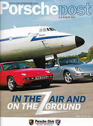 Cover of Porsche Post the magazine of the Porsche Club of Great Britain August 2013