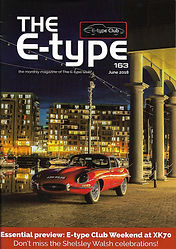 Cover of the Jaguar E-Type UK club magazine issue no 163
