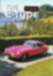 Cover of the Jaguar E-Type UK club magazine issue no 160