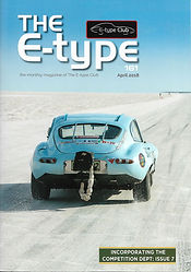 Cover of the Jaguar E-Type UK club magazine issue no 161
