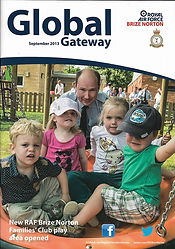 Cover of Global Gateway the magazine of the Royal Air Force RAF Brize Norton September 2013