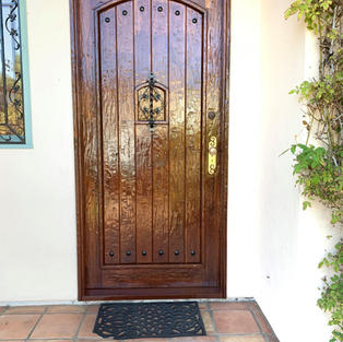 Front Door Staining (After)