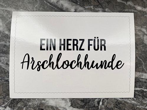 Ein Herz für Arschlochhunde - Postkarte