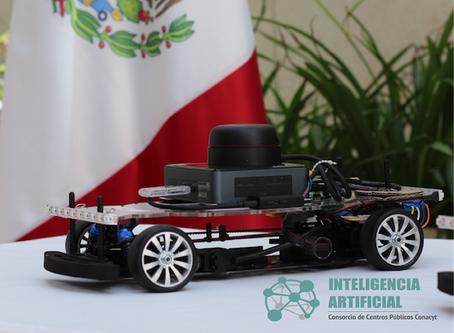 Donación de tres autos autónomos a Consorcio de Inteligencia Artificial, por parte de Raúl Rojas