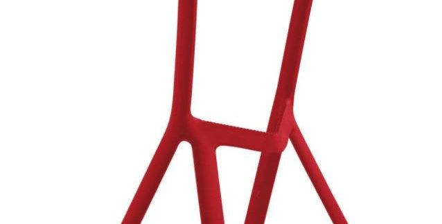 Miura- Plastic Bar Stool, Red