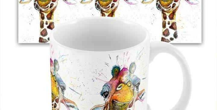 Splatter Rainbow Giraffe mug